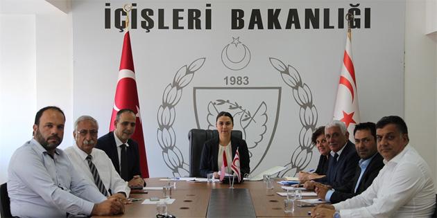 Kıbrıs Türk Belediyeler Birliği, İçişleri Bakanı Baybars ile görüştü