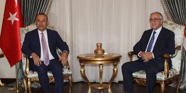 Cumhurbaşkanı Akıncı TC Dışişleri Bakanı Çavuşoğlu'nu kabul etti