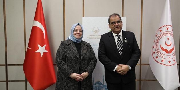 Çalışma ve Sosyal Güvenlik Bakanı Sucuoğlu mevkidaşı Selçuk ile görüştü