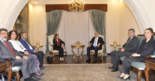 Cumhurbaşkanı Mustafa Akıncı, YÖDAK Başkanı Büke ve Kurul Üyelerini kabul etti