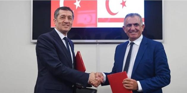Çavuşoğlu TC Milli Eğitim Bakanı Selçuk'la bir araya geldi