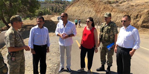 CTP Kıbrıs Çalışma Grubu milletvekilleri Aplıç geçit noktasında incelemelerde bulundu