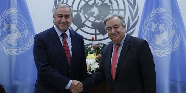 Guterres'ten Cumhurbaşkanı Akıncı'nın hidrokarbon önerisine destek