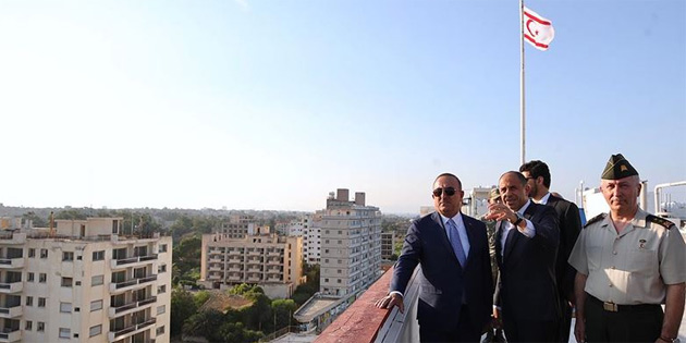 Çavuşoğlu kapalı Maraş'ı ziyaret ederek KKTC'deki temaslarını tamamladı