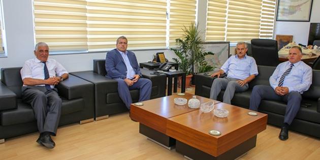 Gazimağusa, Güzelyurt ve Tatlısu Belediye Başkanları belediyeler reformu ve sorunlarını görüştü
