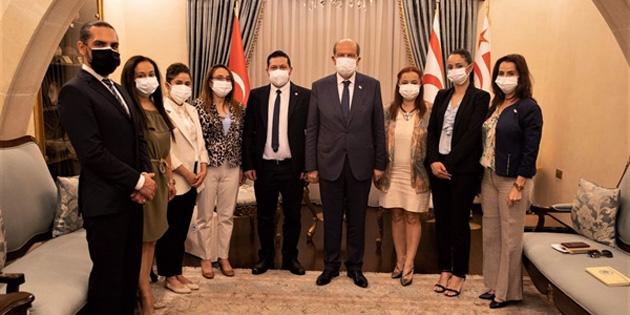 Cumhurbaşkanı Tatar, Kıbrıs Türk Hemşireler ve Ebeler Birliğini kabul etti