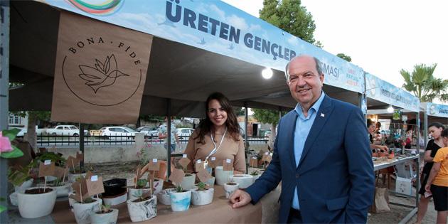 """Başbakan Tatar """"Üreten Gençler Buluşması"""" etkinliğini ziyaret etti"""