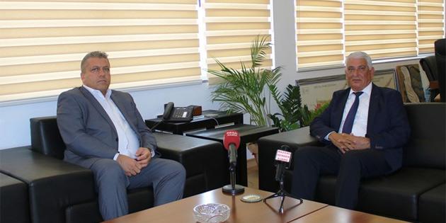 Özçınar, Gazimağusa Belediye Başkanı Arter'i ziyaret etti