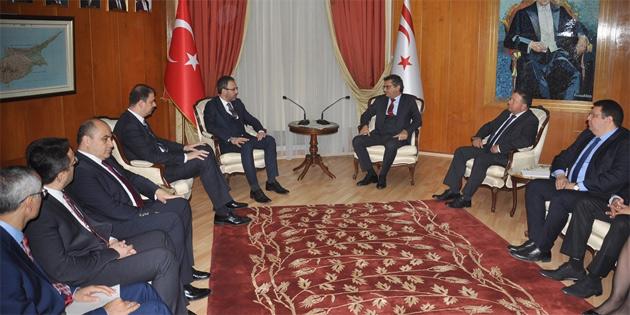 Erhürman, TC Spor Bakanı Kasapoğlu'nu kabul etti