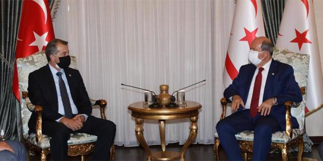 Cumhurbaşkanı Tatar, Lefke Kalkındırma Derneği heyetini kabulünde konuştu