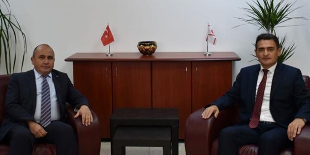 Başçeri, Tarım ve Doğal Kaynaklar Bakanı Oğuz'u ziyaret etti
