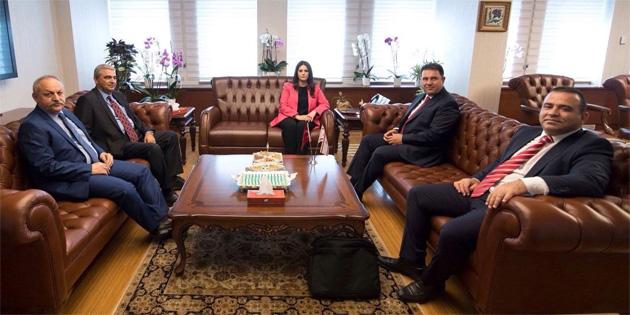Saner, TC Çalışma ve Sosyal Güvenlik Bakanı Sarıeroğlu'nu ziyaret etti
