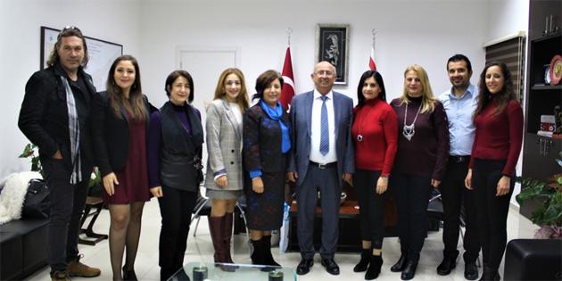 Bakan Özyiğit, Mağusa Kültür Derneği heyetini kabul etti