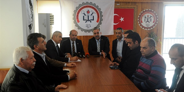 UBP heyeti, Hür-İş Federasyonu'nu ziyaret etti