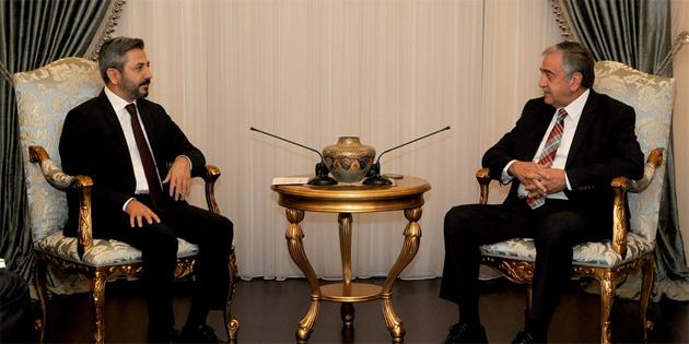 Cumhurbaşkanı Akıncı, TBMM temsilcisi Aydın'ı kabul etti