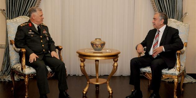 Cumhurbaşkanı Akıncı TC Genelkurmay 2. Başkanı Dündar'ı kabul etti