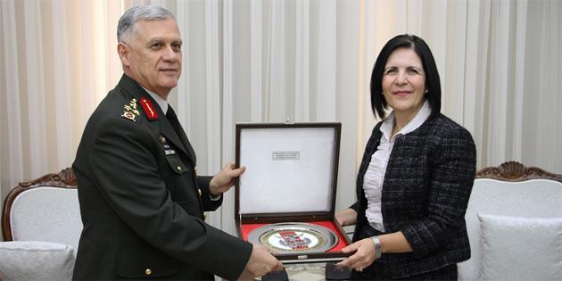 Meclis Başkanı Siber, Orgeneral Dündar'ı kabul etti