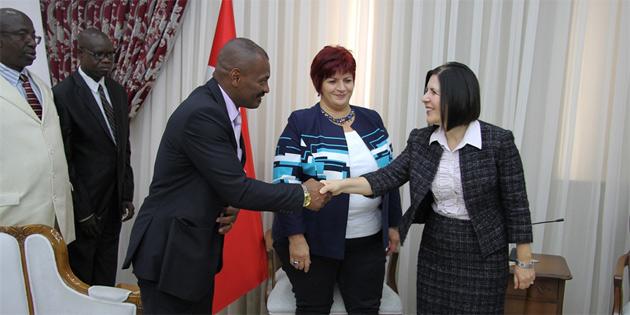 Meclis Başkanı Siber, yabancı parlamenterleri kabul etti