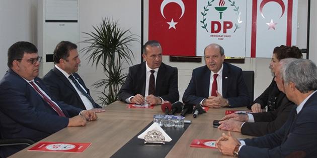 UBP heyeti DP'yi ziyaret etti