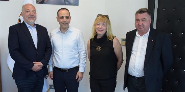 Harmancı, Sør-Varanger Belediyesi Başkanı Rafaelsen'i kabul etti