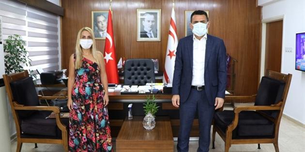 Maliye Bakanı Oğuz, ZAYDER Başkanı Özcömert'i kabul etti