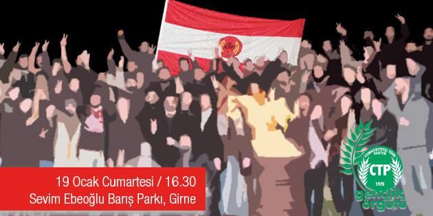 CTP Gençlik Örgütü Girne'de barış ateşi yakacak