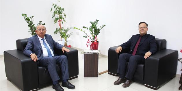 Eğitim Bakanı Özyiğit, Sivil Savunma Başkanı Çelebi'yi kabul etti