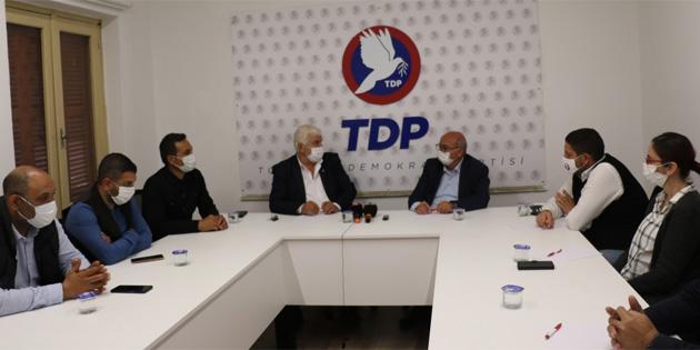 TDP Genel Başkanı Özyiğit, Sendikal Platform heyetiyle görüştü