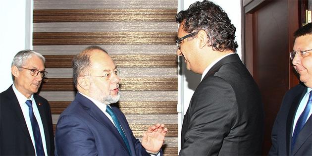 Başbakan Erhürman, TC Başbakan Yardımcısı Akdağ'ı kabul etti