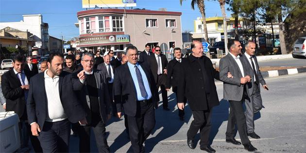 Tarım Bakanı Çavuşoğlu, İskele Bölgesinde incelemelerde bulundu