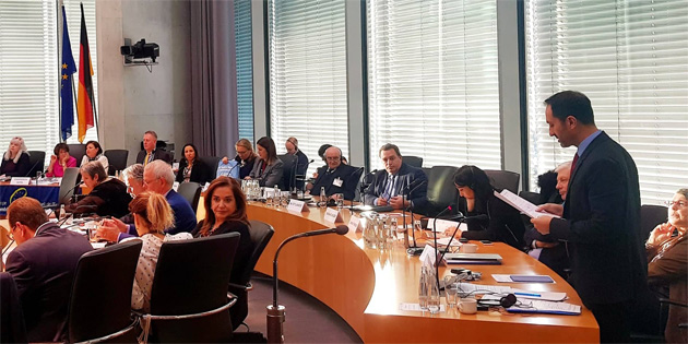 CTP Milletvekili Armağan Candan Almanya Parlamentosu'nda konuşma yaptı