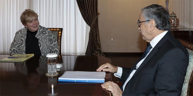 Cumhurbaşkanı Akıncı Lute'u kabul etti