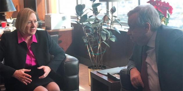 BM Genel Sekreteri Guterres, Spehar ile görüştü