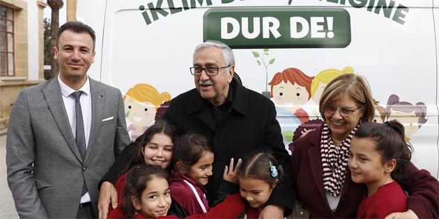 Cumhurbaşkanlığı Temiz Düşün Yeşil Okullar Projesi kapsamında, Alayköy İlkokulu öğrencilerine eğitim verdi