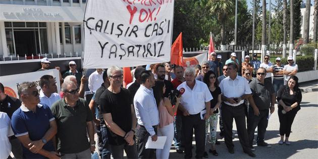 Sendikal Platform Başbakanlık önünde eylem yaptı