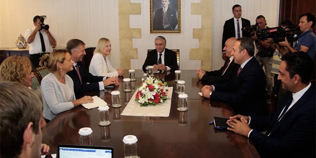 Akıncı BM Genel Sekreteri'nin Kıbrıs Özel Temsilcisi Spehar'ı kabul etti