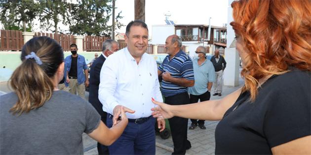 UBP Genel Başkanı, Başbakan Saner Karpaz'da ziyaretlerini sürdürüyor