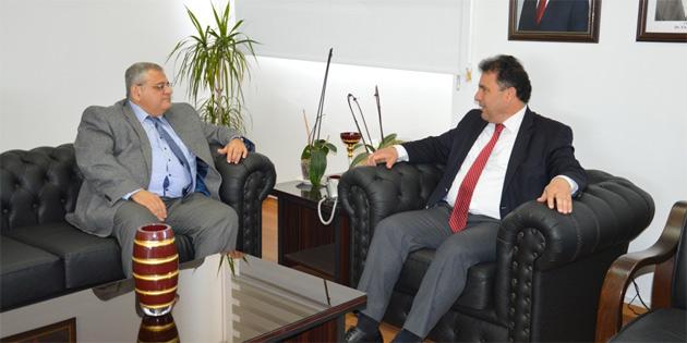 Çalışma Bakanı Saner, DAÜ Rektörü Prof. Dr. Osam'ı kabul etti