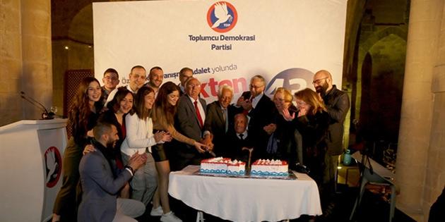 """TDP """"Gelenekten geleceğe 43 yıl""""ı resepsiyonla kutladı"""