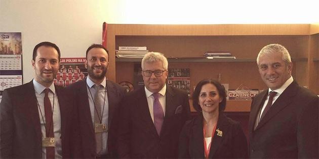 Meclis heyeti Avrupa Parlamentosu'nda temaslarda bulundu
