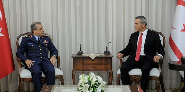 Meclis Başkanı Uluçay, TSK temsilcisi Org.Atilla Gülan'ı kabul etti