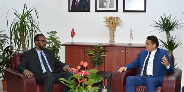 Bakan Oğuz, Somali Tarım Bakanı Lid ile görüştü