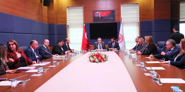 Ekonomi, Maliye, Bütçe ve Plan Komitesi heyeti TBMM'de