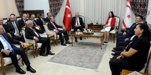 Meclis Başkanı Siber, TC Başbakanı Yıldırım'ı kabul etti