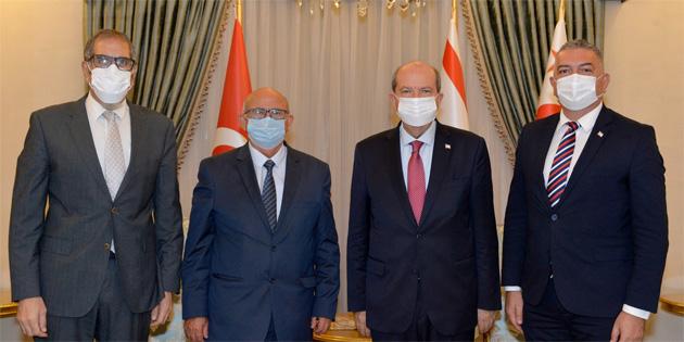 Cumhurbaşkanı Tatar, TDP ile görüştü