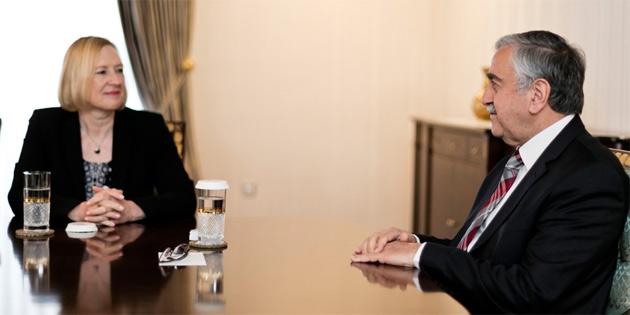 Cumhurbaşkanı Akıncı Elizabeth Spehar'ı kabul etti