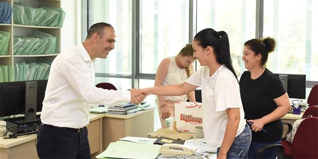 Harmancı, Kar-İş, Milli Eğitim ve Kültür Bakanlığı ile Şehircilik ve Vergi Daireleri'ni ziyaret etti