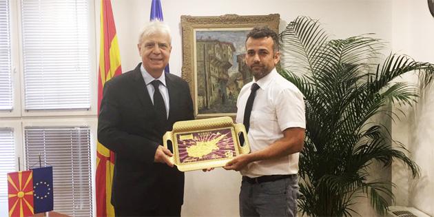 Arıklı, Makedonya'yı ziyaret etti