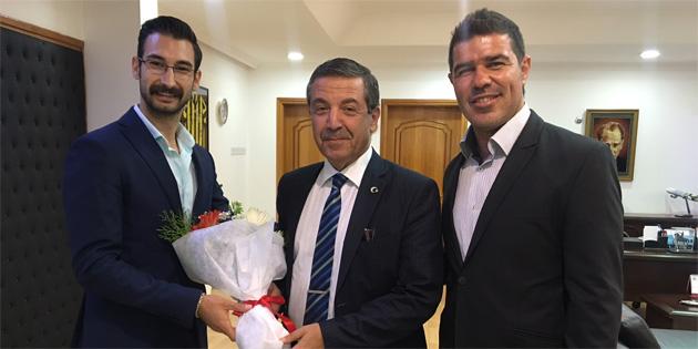 Ertuğruloğlu, Yiğitcan Hekimoğlu'nu kabul etti