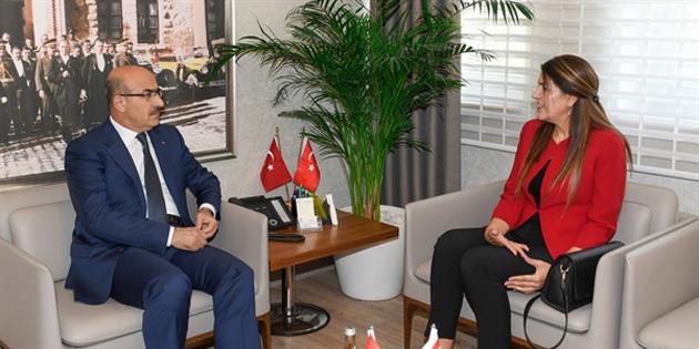 KKTC Mersin Başkonsolosu Mendeli, Vali Demirtaş'ı ziyaret etti